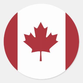 Bandeira canadense adesivo redondo