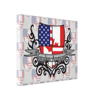 Bandeira Canadense-Americana do protetor Impressão De Canvas Esticada