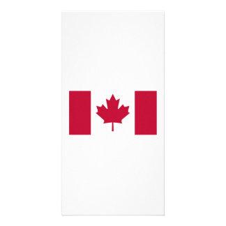 Bandeira canadense cartao com fotos