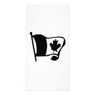 Bandeira canadense cartoes com fotos
