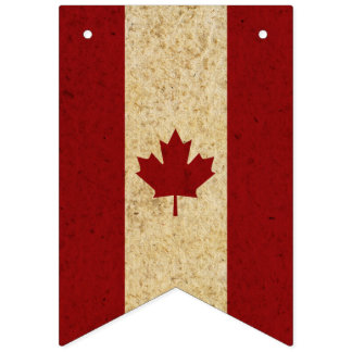 Bandeira canadense da folha de bordo do vintage