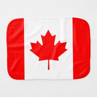 Bandeira canadense da folha de bordo vermelha paninho de boca