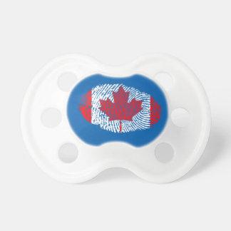 Bandeira canadense da impressão digital do toque chupeta de bebê