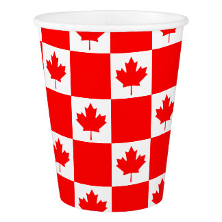 Bandeira canadense do dia de Canadá copos de papel