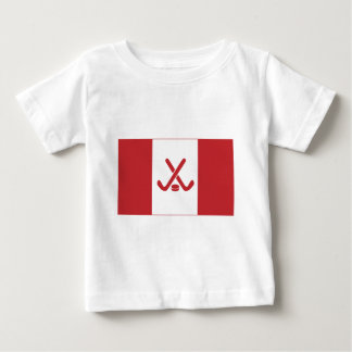 Bandeira canadense do hóquei t-shirt