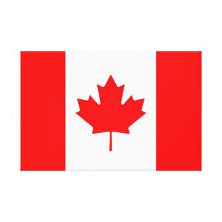 Bandeira canadense do l'Unifolié vermelho da folha Impressão Em Tela