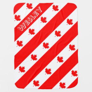 Bandeira canadense do l'Unifolié vermelho da folha Manta De Bebe