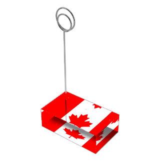 Bandeira canadense do titular do cartão vermelho suporte para cartão de mesa