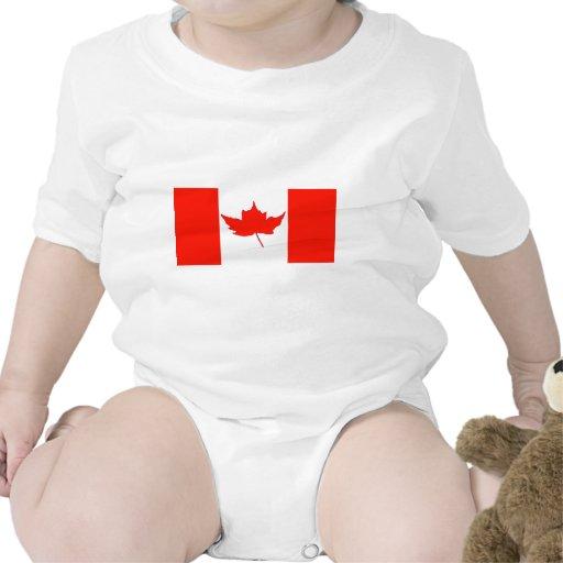 Bandeira canadense macacãozinho para bebês