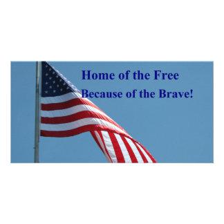 Bandeira, casa do livre! cartão com foto