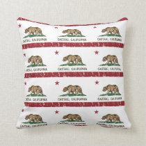 Bandeira Castaic da república de Califórnia Travesseiro