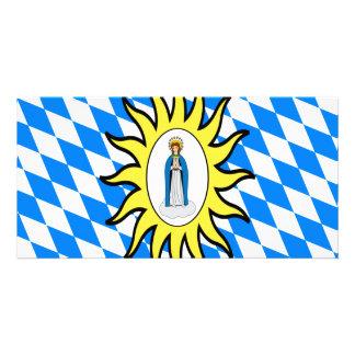 Bandeira católica da liga 30 da guerra de Mary ano Cartão Com Foto