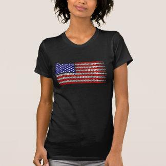 Bandeira Chain EUA da bicicleta Camisetas