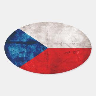 Bandeira checa adesivo oval