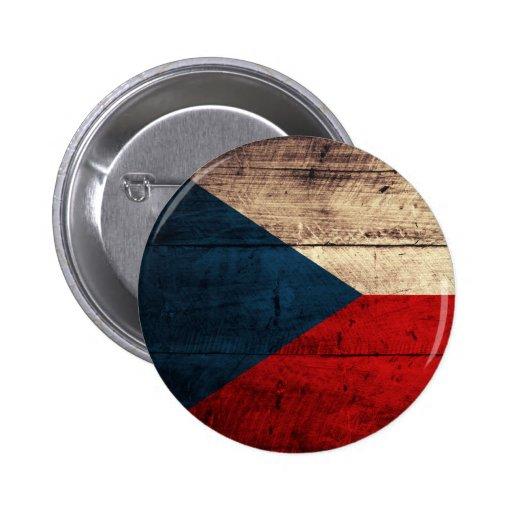 Bandeira checa de madeira velha botons