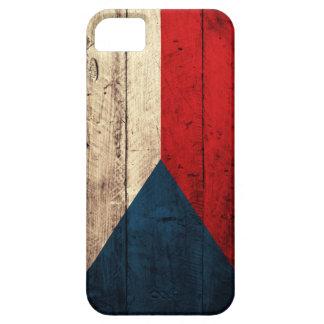 Bandeira checa de madeira velha capa barely there para iPhone 5