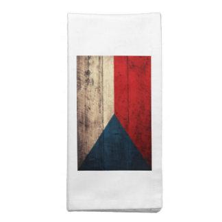 Bandeira checa de madeira velha guardanapo impresso