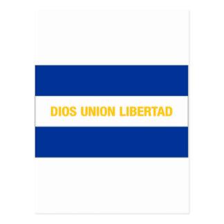 Bandeira civil de El Salvador Cartão Postal