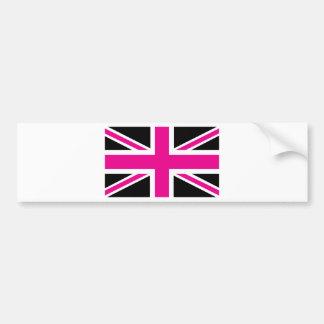Bandeira clássica de Union Jack Ingleses do preto  Adesivos