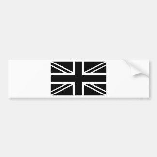 Bandeira clássica preta & branca de Union Jack Ing Adesivo Para Carro