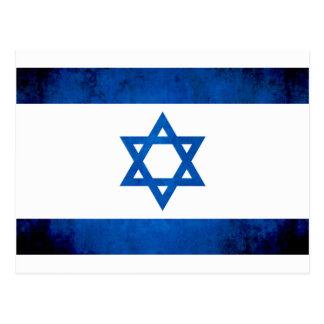 Bandeira colorida do israelita do contraste cartão postal