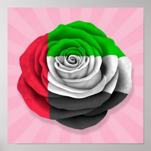 Bandeira cor-de-rosa de United Arab Emirates no ro Impressão
