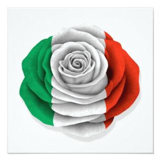 Bandeira cor-de-rosa do italiano no branco convites personalizados