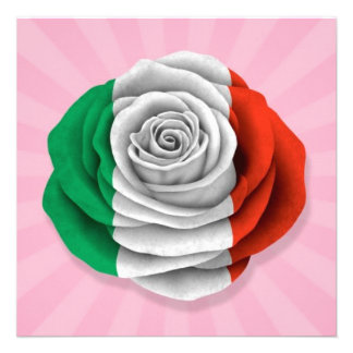 Bandeira cor-de-rosa do italiano no rosa convites personalizado
