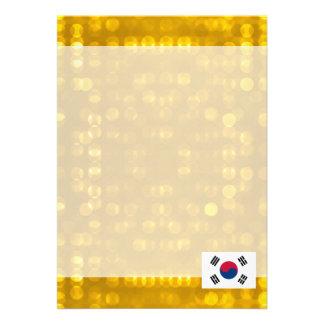 Bandeira coreana sul oficial convite 12.27 x 17.78cm