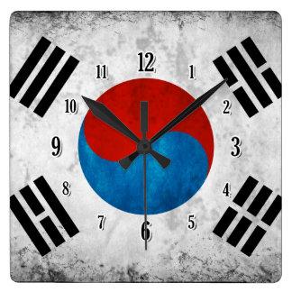 Bandeira coreana sul relógio de parede