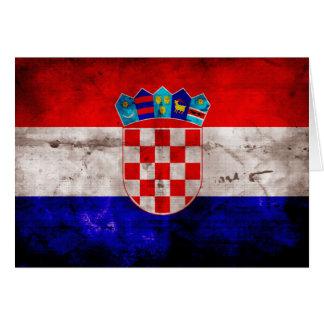Bandeira croata cartão de nota