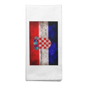 Bandeira croata guardanapo impresso