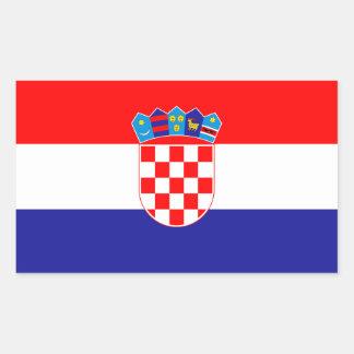 Bandeira croata patriótica adesivo retangular