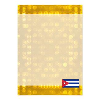 Bandeira cubana oficial convite 12.27 x 17.78cm