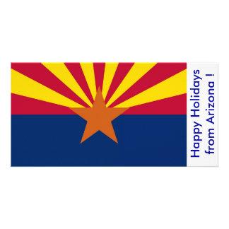 Bandeira da arizona, boas festas dos EUA Cartão Com Foto