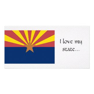 Bandeira da arizona cartao com foto