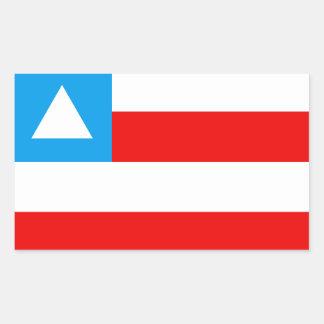 Bandeira da Bahia Brasil Adesivo Retangular
