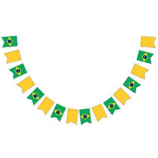 Bandeira da bandeira de Brasil, verde e amarela do