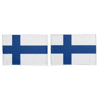 Bandeira da bandeira transversal azul de Finlandia