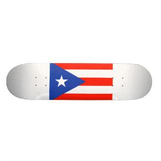 Bandeira da bandera de Boricua de Puerto Rico Shape De Skate 18,7cm