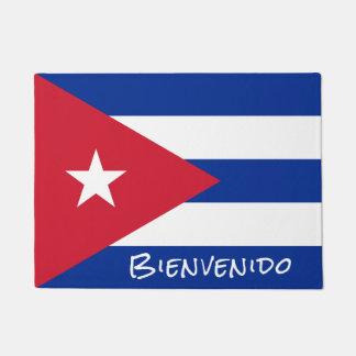 Bandeira da boa vinda de Cuba Tapete
