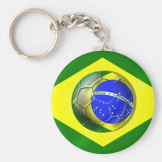 Bandeira da bola de futebol de Brasil Futebol Band Chaveiros