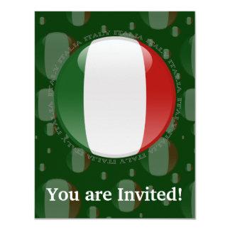 Bandeira da bolha de Italia Convite 10.79 X 13.97cm