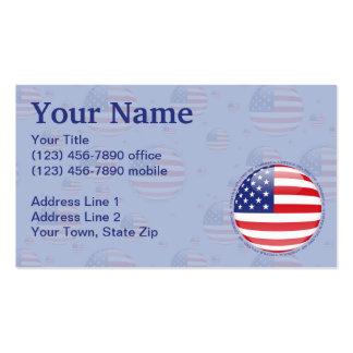 Bandeira da bolha dos Estados Unidos Cartão De Visita