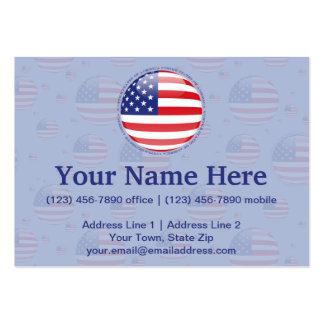 Bandeira da bolha dos Estados Unidos Cartão De Visita Grande