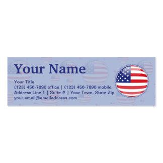 Bandeira da bolha dos Estados Unidos Cartão De Visita Skinny