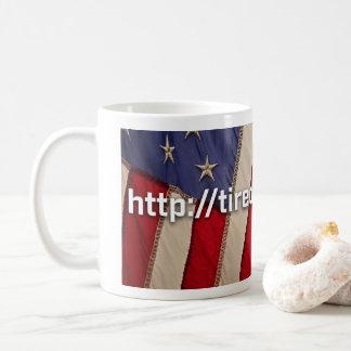Bandeira da caneca de café cansado de ganhar o RU