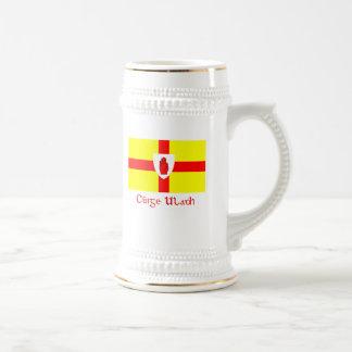 Bandeira da caneca de cerveja de Ulster