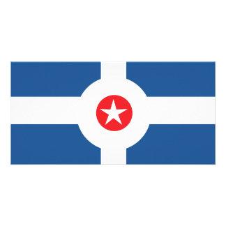 Bandeira da cidade de Indianapolis Cartão Com Foto