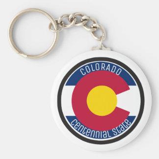 Bandeira da circular de Colorado Chaveiro